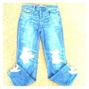 AEO ripped high rise jeans sz0